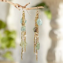 Handcrafted Roman Glass Cluster Earrings