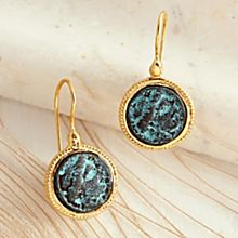 Handcrafted Reproduction Roman Coin Earrings
