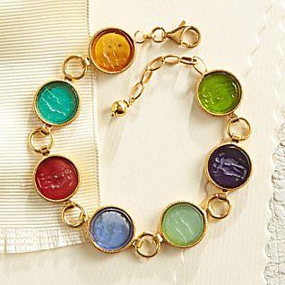 View Italian Intaglio Glass Bracelet image