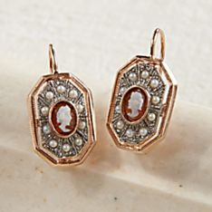 Handcrafted Italian Cameo and Pearl Earrings