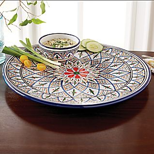 View Tunisian Hand-painted Chip and Dip Set image