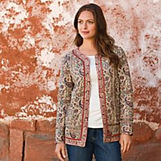 Cloth Quilt Womens Jacket