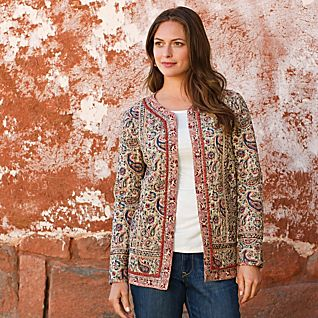 View Quilted Paisley Jacket image