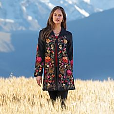 Women's Himalayan Embroidered Silk Jacket