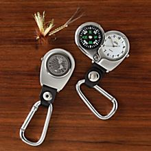 Hiker's Compass and Clip Watch