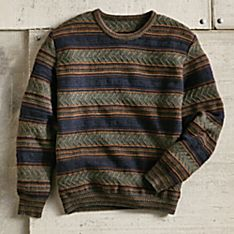 Mens Sweater with Alpaca Design