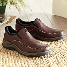 Topstitched Leather Travel Shoes