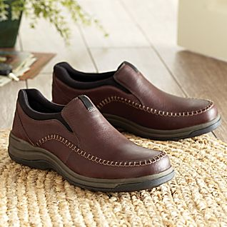 View Topstitched Leather Travel Shoes image
