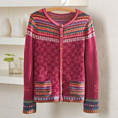 Merino Wool Cardigan Womens Sweater