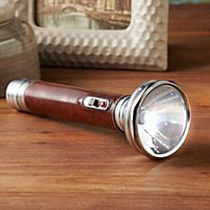 Retro Leather-Clad Flashlight