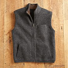 Men's Boiled Alpaca Wool Travel Vest