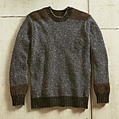 Mens Brown Wool Sweater