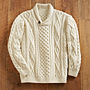 Irish Shawl-collar Sweater