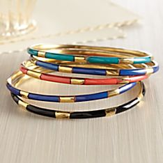 Stackable Indian Bangle Bracelets- Set of 5
