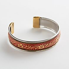 Hand-Painted Narrow Crystal Palace Brass Bracelet