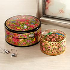Kashmiri Treasure Boxes - Set of 2, Handmade in India