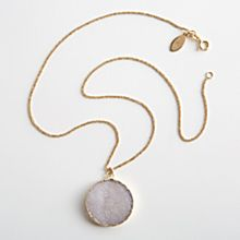Agate Druzy Necklace, Made in the United States