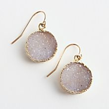 Agate Druzy Earrings, Made in the United States