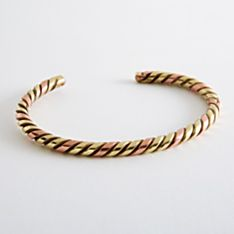Brass Twist Currency Bracelet, Handmade in South Africa