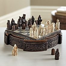 Miniature Isle of Lewis Chess Set