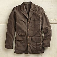 Men's Waxed Cotton Travel Blazer