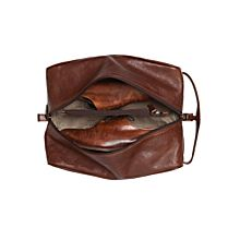 Imported Moore & Giles Leather Shoe Bag