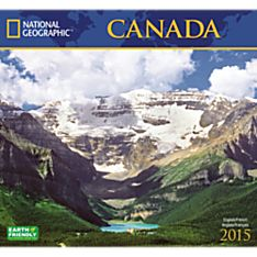 2015 National Geographic Canada Wall Calendar
