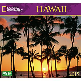 2015 National Geographic Hawaii Wall Calendar