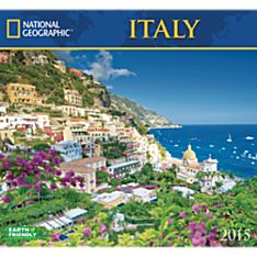 2015 National Geographic Italy Wall Calendar