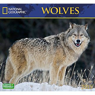 View 2015 National Geographic Wolves Wall Calendar image