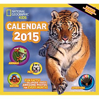2015 National Geographic Kids' Almanac Wall Calendar