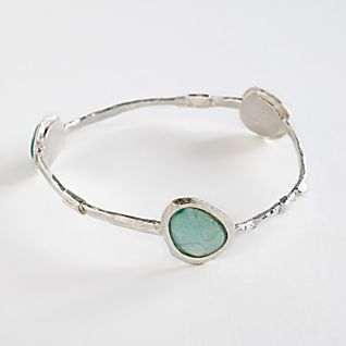 View Roman Glass and Silver Bangle Bracelet image
