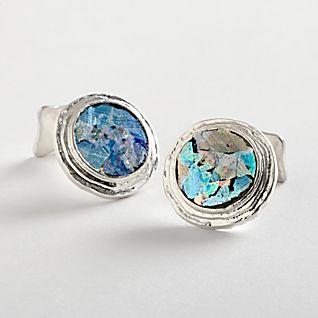 View Roman Glass Cuff Links image
