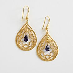 Handcrafted Turkish Iolite Earrings