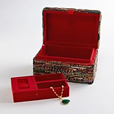 Handcrafted Indian Bangle Mosaic Jewelry Box