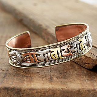 Tibetan Mantra Copper Bracelet