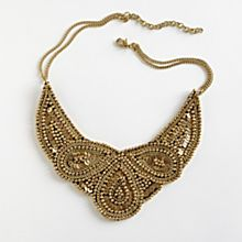 Handcrafted Golden Mughal Bib Necklace