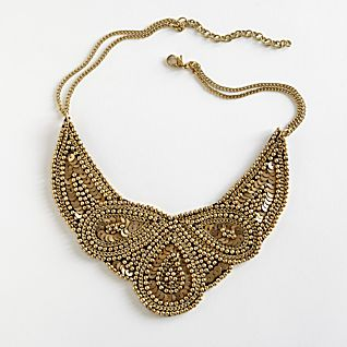Golden Mughal Bib Necklace
