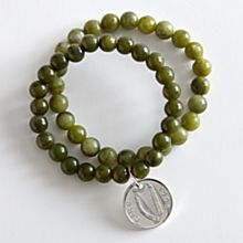 Handcrafted Irish Lucky Penny Stretch Bracelets - Set of 2