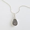 Irish Celtic Knot Druzy Necklace
