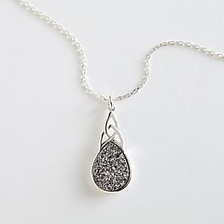 View Irish Celtic Knot Druzy Necklace image