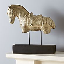 Indonesian Horse Sculpture