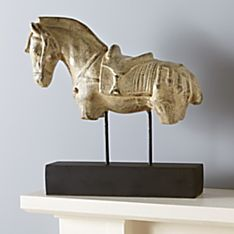 Handcrafted Indonesian Horse Sculpture