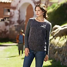 Women's Turkish Mosaic Knit Pullover