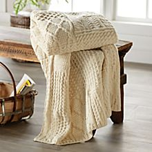 Traditional Irish Aran Throw