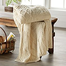 Irish Aran Throw