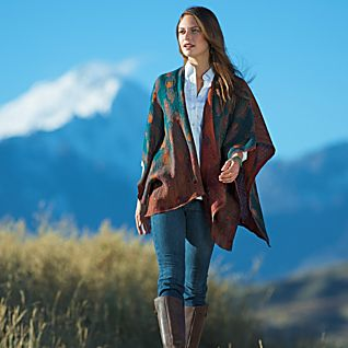 View Indian Wool Peacock Wrap image