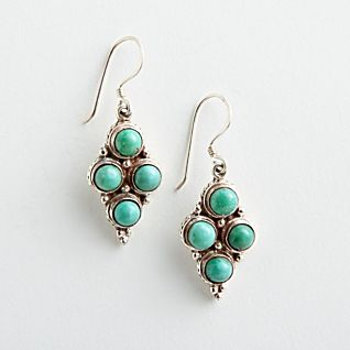 View Four-stone Turquoise Earrings image