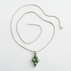 Four-stone Turquoise Necklace