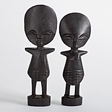 Kenyan Twins Sculpture Pair